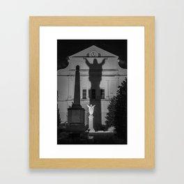Shadow of Jesus, New Orleans Framed Art Print