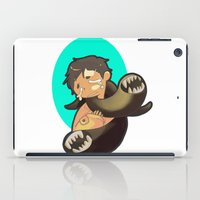 castiel iPad Cases featuring Castiel by oh, wolves