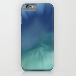 Blue meets Green Abstract iPhone Case