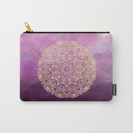 Gold mandala on maroon ink Carry-All Pouch