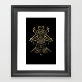 Virgo Gold Framed Art Print
