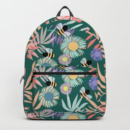 Gerbera, Palms and Bees Backpack