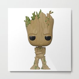 Little Groot Metal Print