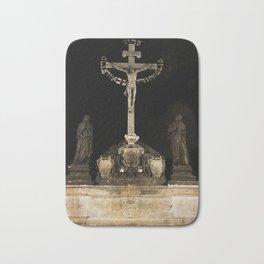 Jesus at Charles Bridge Bath Mat