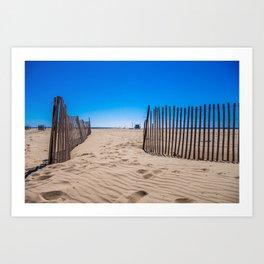 Sweat beach Art Print