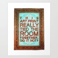 lebowski Art Prints featuring Lebowski Rug by Flequillo