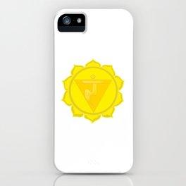 Manipura Chakra Solar Plexus chakra Yoga iPhone Case