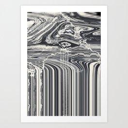 Eye Glitch Art Art Print