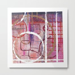Lines, Circles And Squares, OH MY! 2 Bottom Square Metal Print