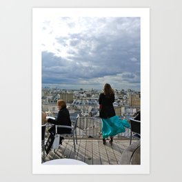 Parisian Rooftops in Spring Art Print