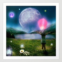 Under the Crystal Moon  Art Print