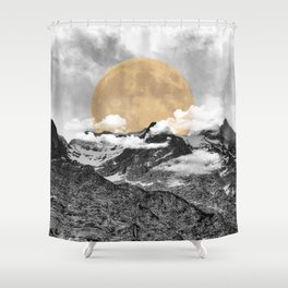 Moonrise Kingdom B&W Shower Curtain