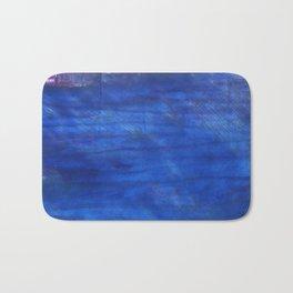 Denim Blue abstract watercolor background Bath Mat