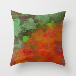 A Difference Of Opinion (Abstract painting) Throw Pillow