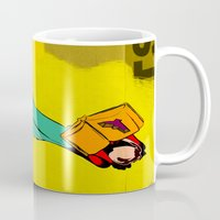 library Mugs featuring HIS LIBRARY by kasi minami