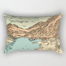 Mountain, Train & Lake Rectangular Pillow