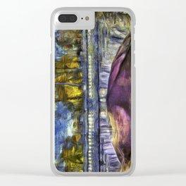 The Headless Horseman Bridge Van Gogh Clear iPhone Case