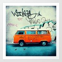vw Art Prints featuring VW Van by Tim Jarosz