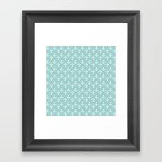 Mint Anchors Pattern Framed Art Print