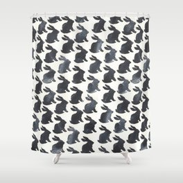 Rabbit Chalkboard Pattern by Robayre Shower Curtain