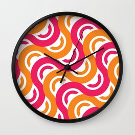 refresh curves and waves geometric pattern Wall Clock