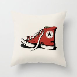 Conversation Red Throw Pillow