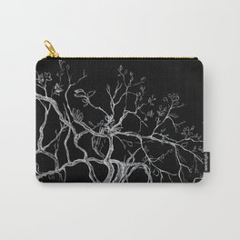 Graphic art, tree leaves, white ink Carry-All Pouch