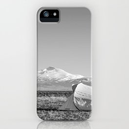 Camping in the Iceland Mountains iPhone Case
