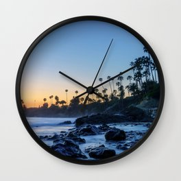 Sunset from the Rocks Wall Clock
