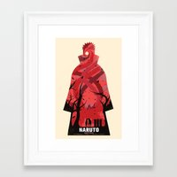 naruto Framed Art Prints featuring Naruto Shippuden by GIOdesign