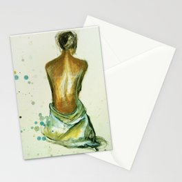 Pastel Nude Study Stationery Cards