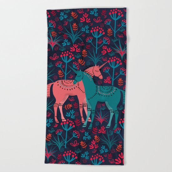 Unicorn Land Beach Towel