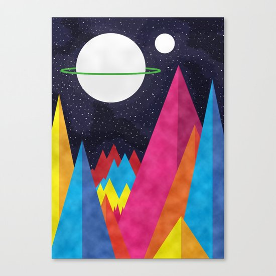 Space Night Canvas Print