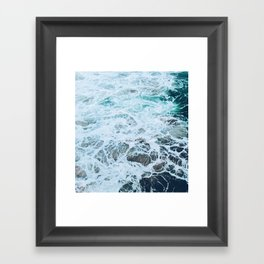 Static Sea Waves Framed Art Print