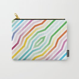 Symmetric diagonal stripes background Carry-All Pouch