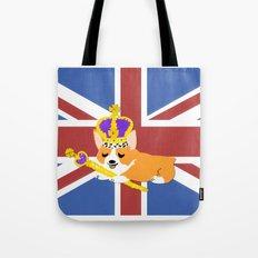 Crown Corgi Tote Bag
