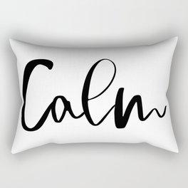 Calm (white), Home Decor, Wall Art Rectangular Pillow