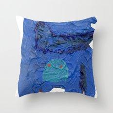 el monstro azul Throw Pillow