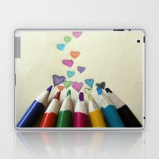 pencil crayon love Laptop & iPad Skin