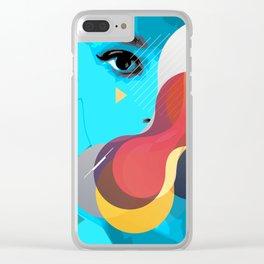 Hiding Hepburn Clear iPhone Case