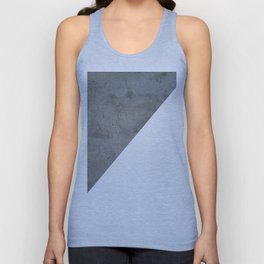 Geometrical Color Block Diagonal Concrete Vs White Unisex Tanktop