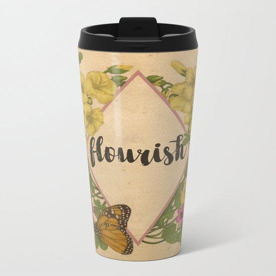 Flourish Metal Travel Mug