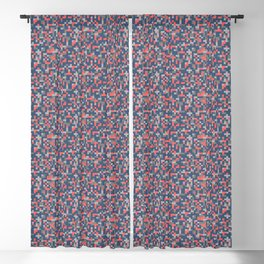pixel coral pattern Blackout Curtain