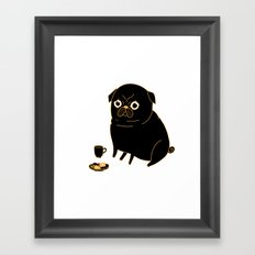 Tea Pug Framed Art Print