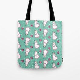 Snowman Toss Tote Bag