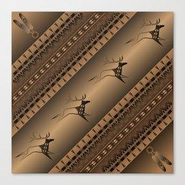 Elk Spirit (Brown) Canvas Print