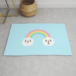 Rainbow Bichon Rug