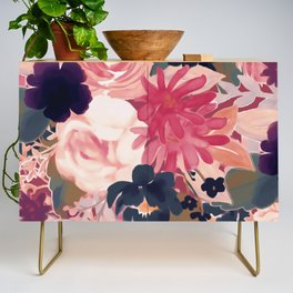 Mulberry Blooms Credenza