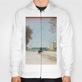 Alfred Sisley - En hiver, effet de neige Hoody