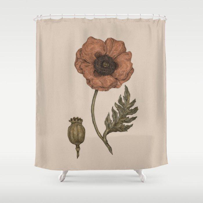 Poppy Shower Curtain By Jessicaroux